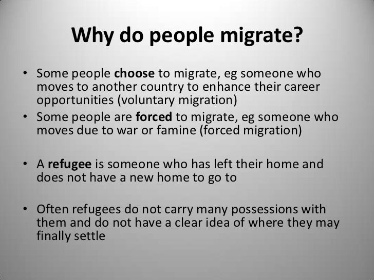 Why did people leave their homes particularly in Europe ...