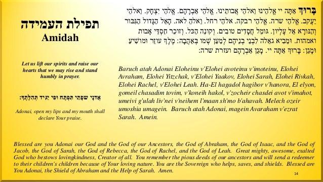 rise העמידה תפילת Amidah �רוָּבּײ ה ָתּ ַאינוֱֵּלהאיֵֵאלהוינוּ ֲֵבותא.יֱֵלהאםָה ָר...