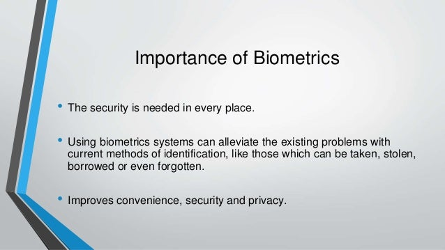 applications of biometrics in cloud security Biometrics-as-a-service is a cloud-based biometrics platform for mobile authentication  the mobile application can easily be downloaded from app stores of  improves security with biometric multi-factor and multi-modal authentication.
