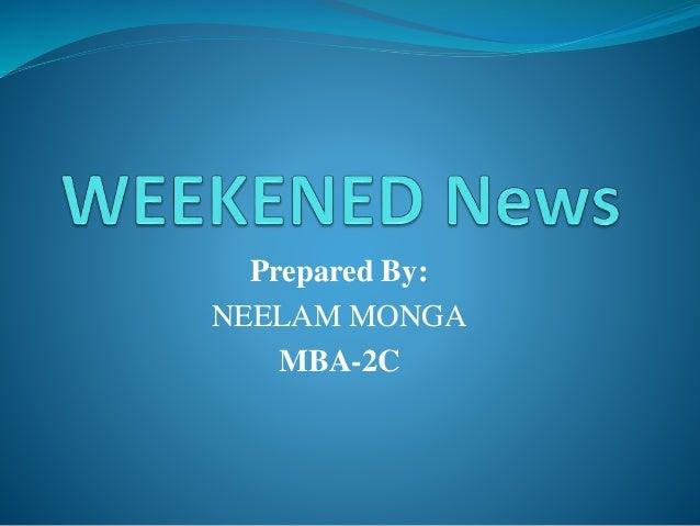Prepared By: NEELAM MONGA MBA-2C