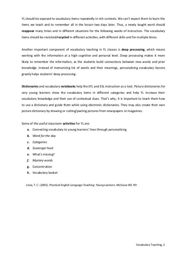 Week Iv Teachingvocabulary