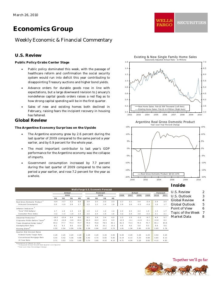 March 26, 2010    Economics Group  Weekly Economic & Financial Commentary   U.S. Review                                   ...