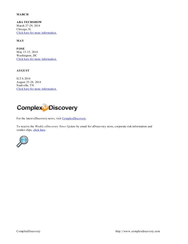Weekly Ediscovery Top Story Digest October 9 2013