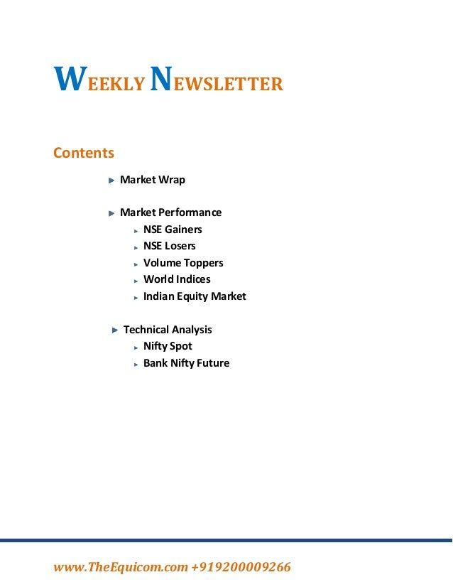 Weekly equity news letter 30 sep 2013