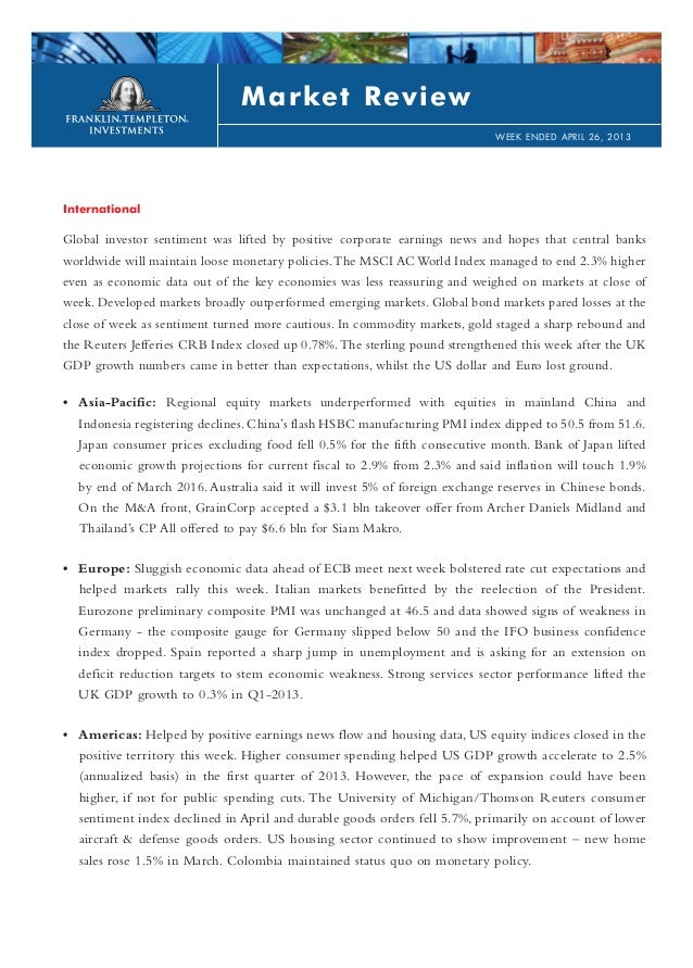 InternationalGlobal investor sentiment was lifted by positive corporate earnings news and hopes that central banksworldwid...