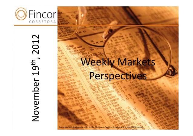 2012  th,                                  Weekly Markets19  n                                PerspectivesNovember        ...