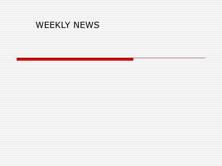 Weekly news 4