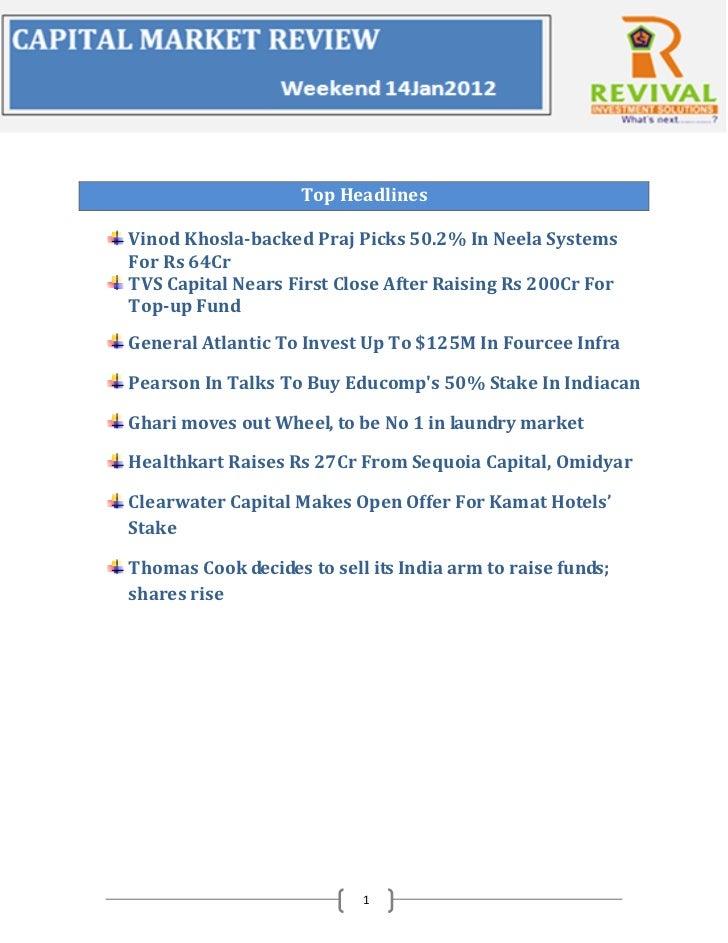 Top HeadlinesVinod Khosla-backed Praj Picks 50.2% In Neela SystemsFor Rs 64CrTVS Capital Nears First Close After Raising R...