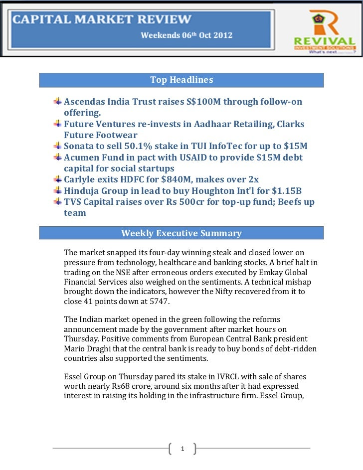 Top HeadlinesAscendas India Trust raises S$100M through follow-onoffering.Future Ventures re-invests in Aadhaar Retailing,...