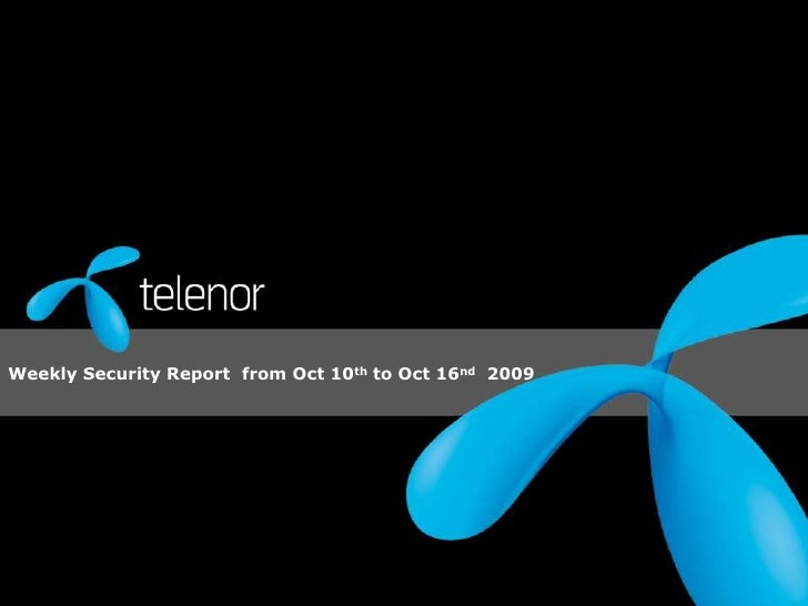 Weekly Security Report  from Oct 10th to Oct 16nd  2009 <br />