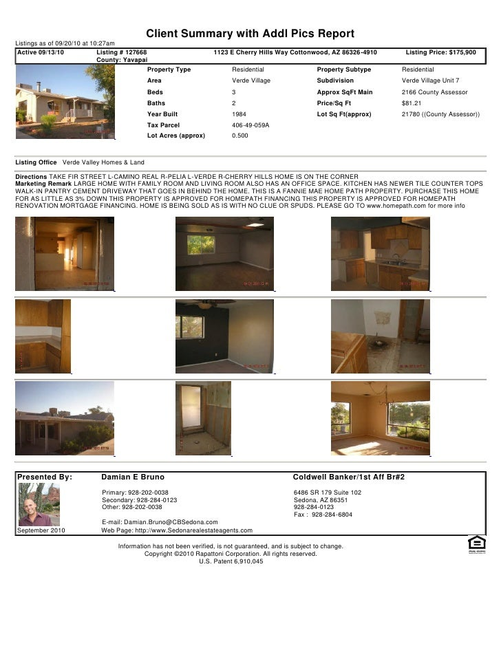Weekly Sedona and Verde Valley Foreclosure Short Sale