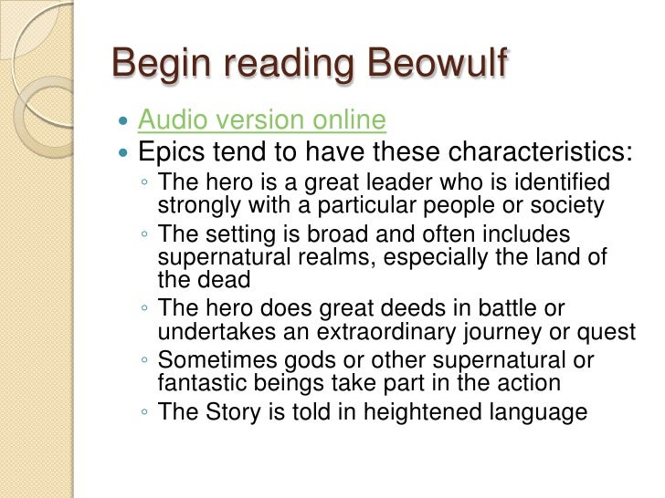 beowulf essay characteristics of archetypal epic hero answers Beowulf essay beowulf essay beowulf is an epic poem and the character beowulf is an archetypal hero because of his archetypal characteristics.