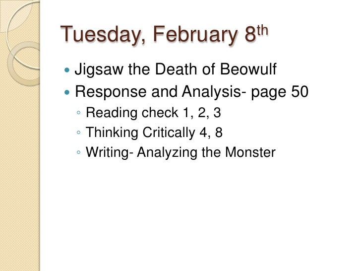 an analysis of the beowulf theme and anglo saxons The anglo-saxons  complete questions 1-2 under text analysis under both the  write an essay in which you show how the character beowulf embodies.