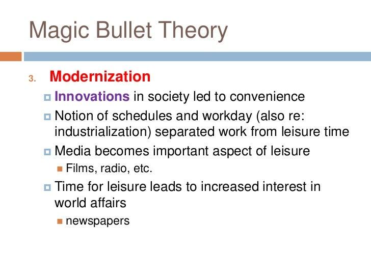 magic bullet theory media