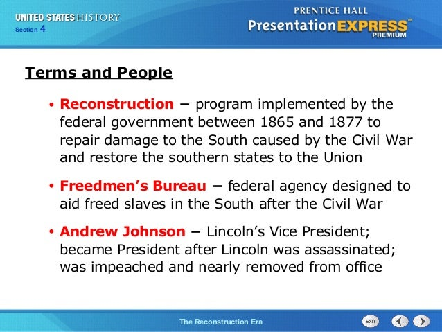 reconstruction history definition
