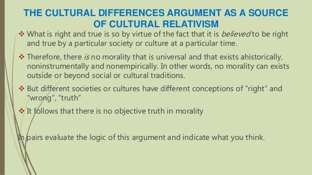 cultural differences argument