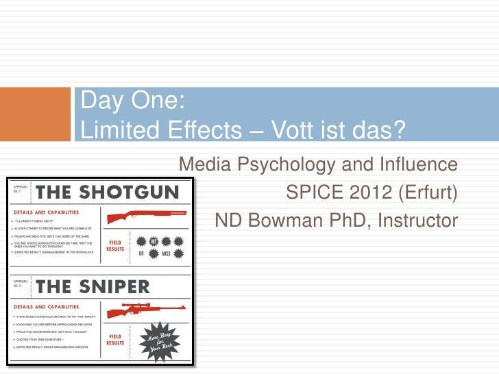 Media Expert Erfurt spice 2012 media psychology week two notes