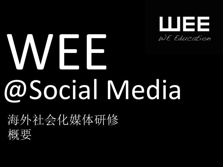 WEE @Social Media 海外社会化媒体研修 概要