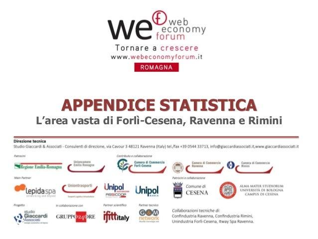 APPENDICE STATISTICA  L'area vasta di Forlì-Cesena, Ravenna e Rimini  (rev. 15-10-2013)