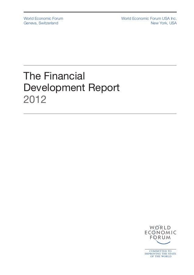 The Financial Development Report 2012 Slide 3