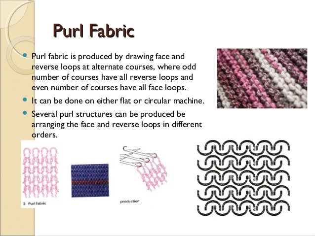 Knitting Fabric Structure : Knitting