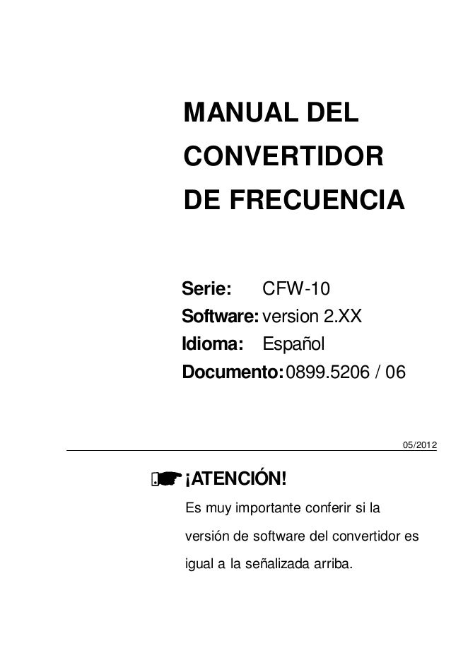 Inverter Weg cfw-10-manual-del-usuario-espanol