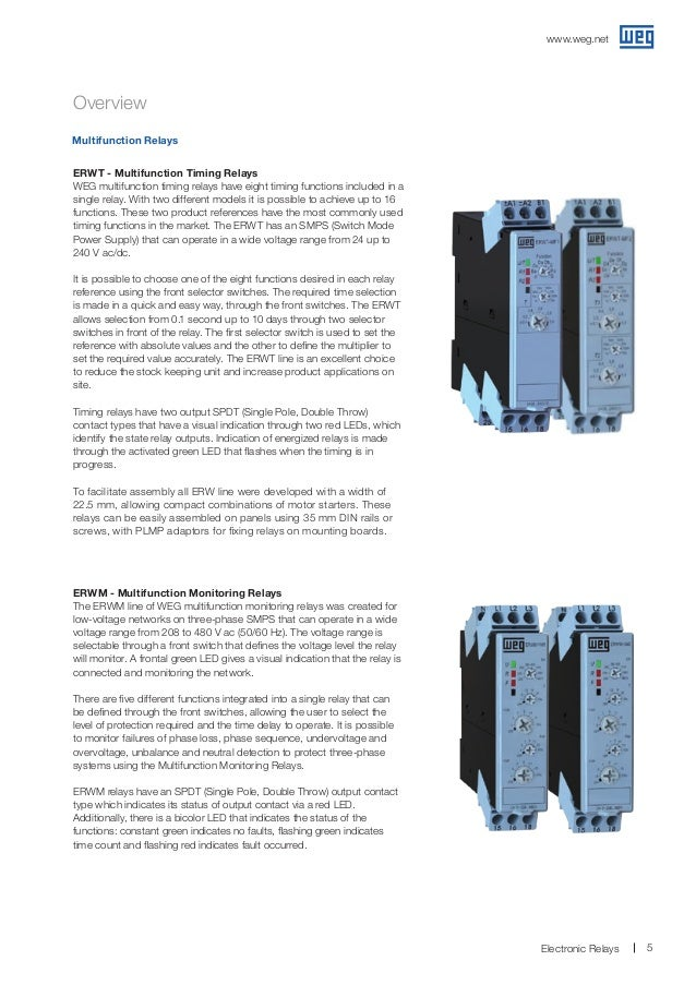 Weg electronicrelays50058082brochureenglish