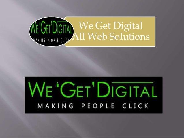 We Get Digital All Web Solutions