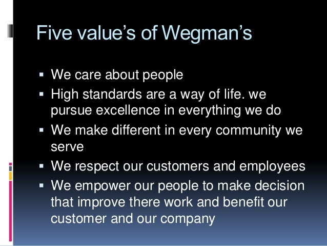 operation management case study wegmans food markets The case study explains the importance of the process of learning in wegmans food markets and the role that it plays in the overall business strategy yes, i would consider learning to contribute to the business strategy of wegmans food markets.