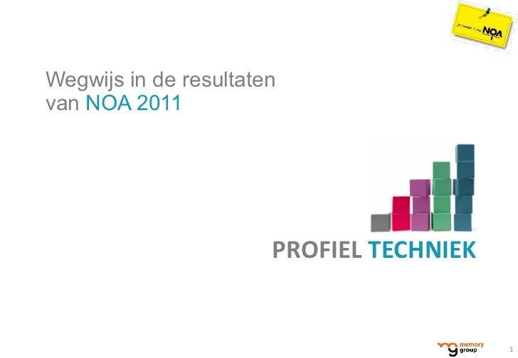 <ul><li>Wegwijs in de resultaten  van  NOA 2011 </li></ul>PROFIEL  TECHNIEK