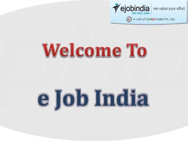 e Job India