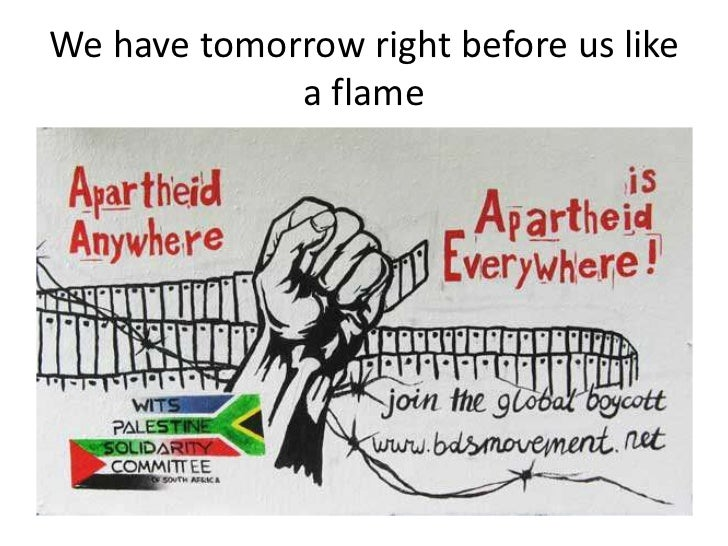We have tomorrow right before us like a flame<br />