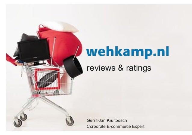 reviews & ratings Gerrit-Jan Kruitbosch Corporate E-commerce Expert