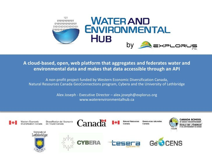 byA cloud-based, open, web platform that aggregates and federates water and     environmental data and makes that data acc...