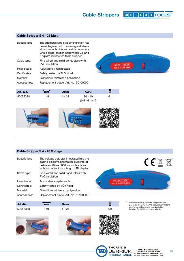 Universal Kabelmesser WEICON No 4-28