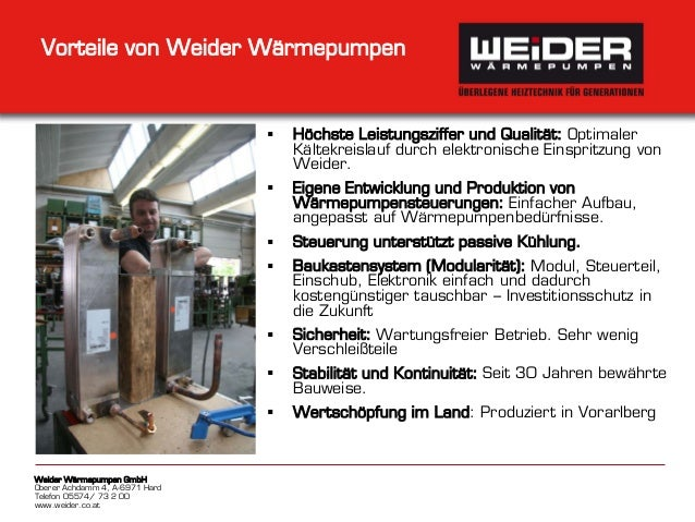 weider w rmepumpen unternehmens und produktpr sentation. Black Bedroom Furniture Sets. Home Design Ideas