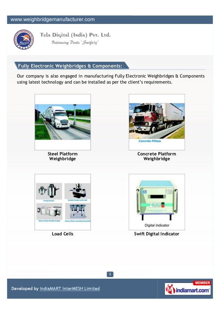 Tula Digital (India) Pvt. Ltd., New Delhi, Scales & Weighbridges Slide 3