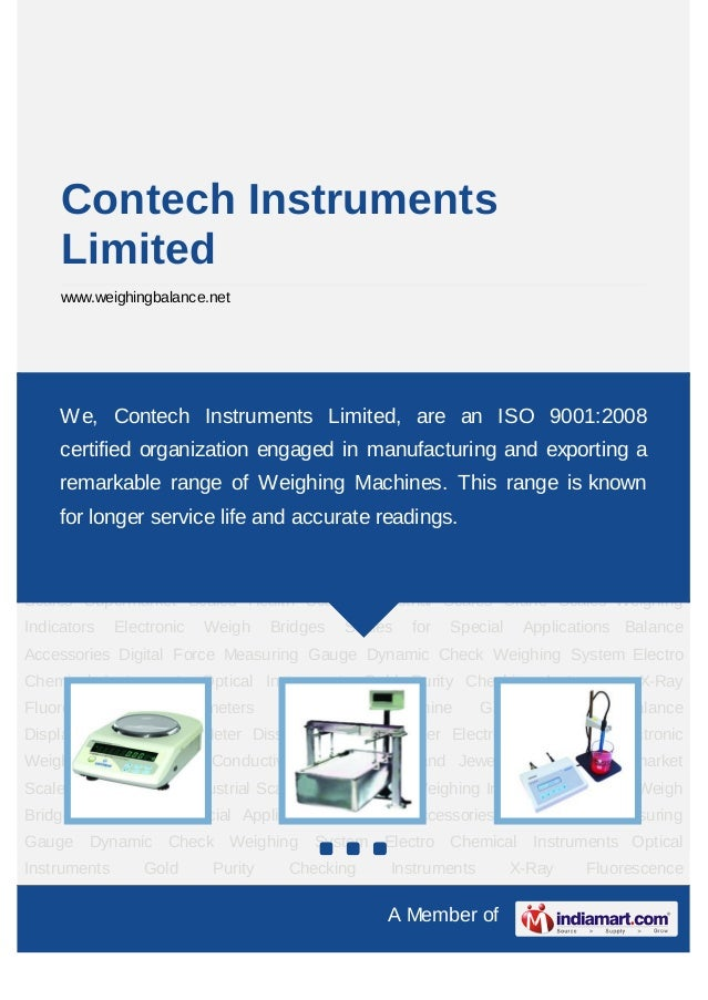 Contech Instruments     Limited     www.weighingbalance.netElectronic Balances Electronic Weighing Machine PH Conductivity...