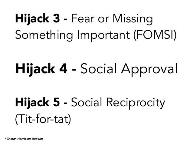 Hijack 8 - Bundling Your (business) Reasons with Their (user) Reasons * Tristan Harris on Medium