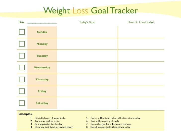 Weight Goal Tracker  CityEsporaCo