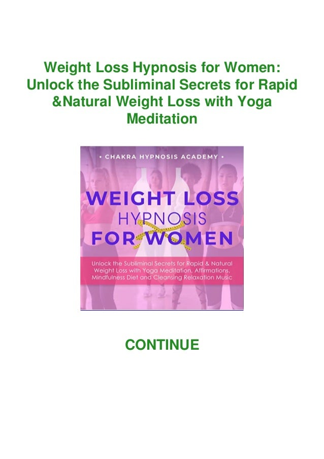 Read Pdf Weight Loss Hypnosis For Women Unlock The Subliminal Secre