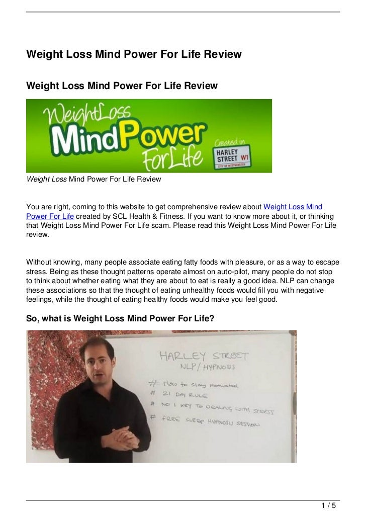 Weight Loss Mind Power For Life ReviewWeight Loss Mind Power For Life ReviewWeight Loss Mind Power For Life ReviewYou are ...