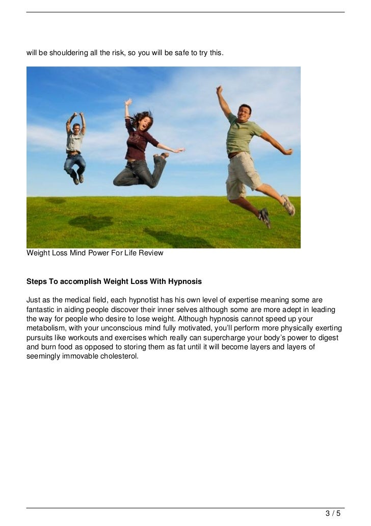 Weight Loss Mind Power For Life Review Slide 3