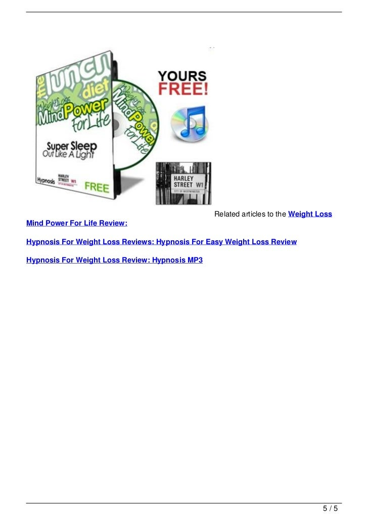 Related articles to the Weight Loss                                   Mind Power For Life Review:                         ...