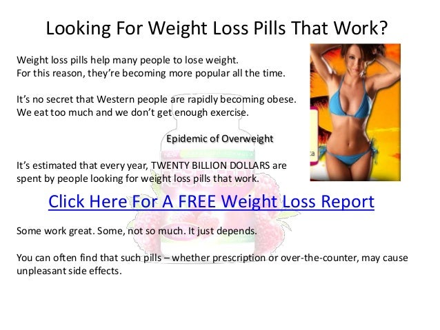 weight loss drugs that really work