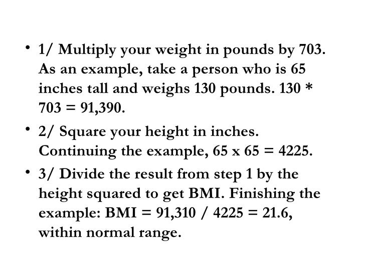weights according to height and age