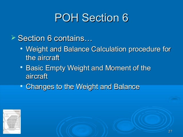 Procedures for Weighing an Aircraft – Weight and Balance Data