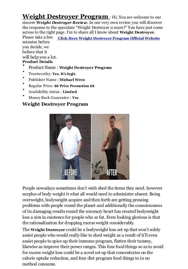 Weight destroyer  Slide 2