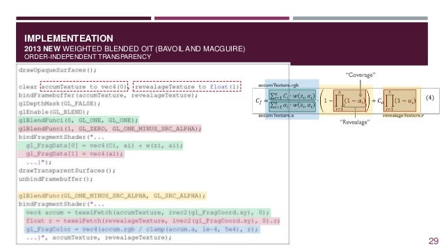 IMPLEMENTEATION 2013 NEW WEIGHTED BLENDED OIT (BAVOIL AND MACGUIRE) ORDER-INDEPENDENT TRANSPARENCY 29