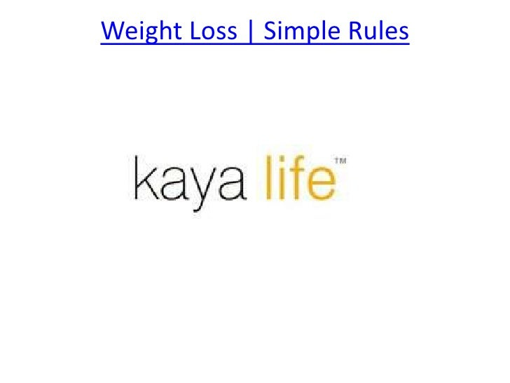 Weight Loss | Simple Rules <br />